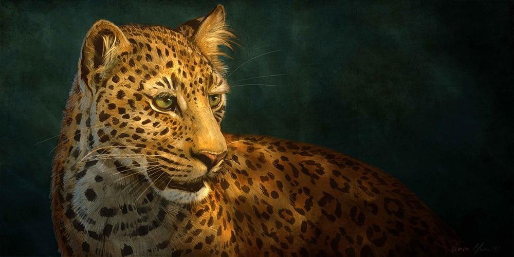 Digital Leopard Art Wallpapers: Photoshop Wildlife Painting Series