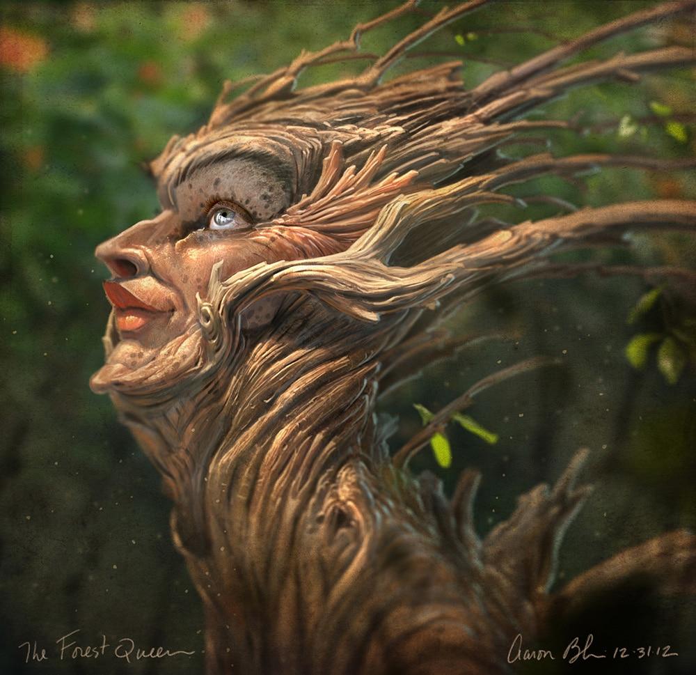 Zelmut mocsara Aaron-Blaise-The-Forest-Queen-Photoshop-Creatures-Tutorial-2