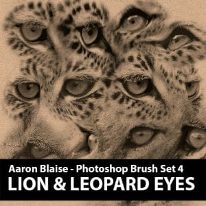 Custom Photoshop Brushes – Set 4 (Lion & Leopard Eyes)