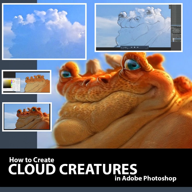 Create Cloud Creatures in Photoshop Aaron Blaise Video Tutorial