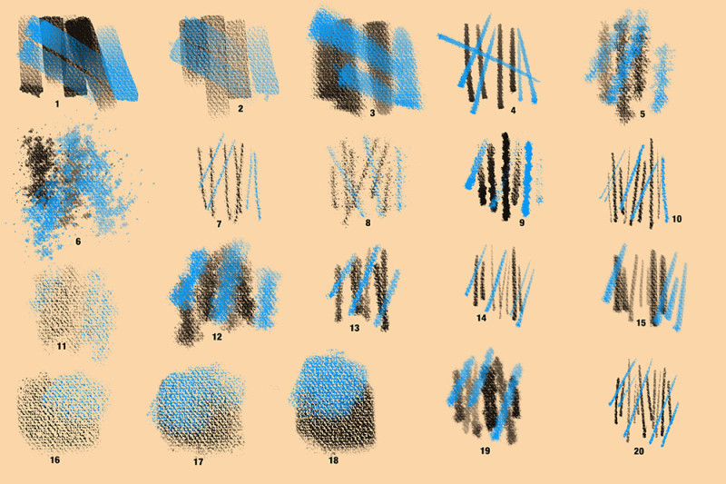 Photoshop Canvas Texture Brushes