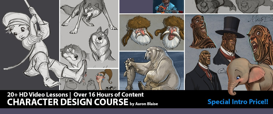Character Design Crash Course : Art of aaron blaise animation lessons tutorials