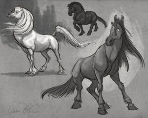 how to draw cartoon horses