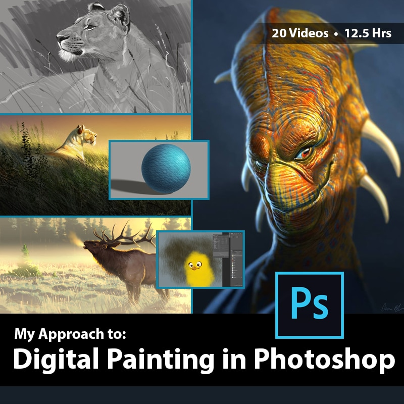 Digital Painting in Photoshop with Aaron Blaise