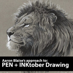 how to draw with pen & ink