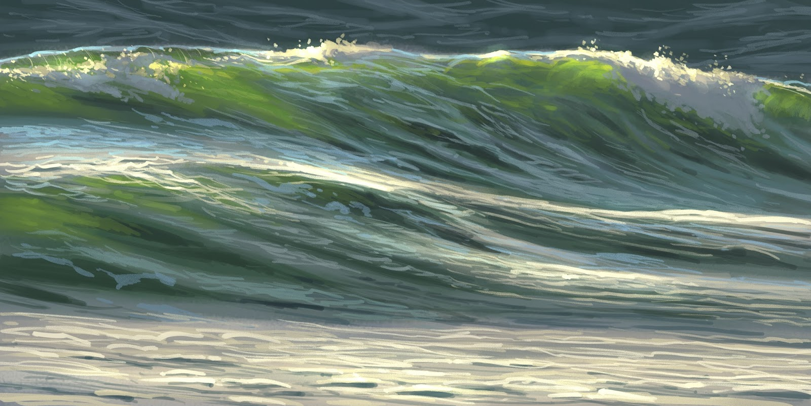 I 39 ve just finished a new tutorial on painting water it 39 s for Painting on water tutorial